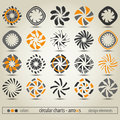 Circular charts new collection of can use like modern design elements Stock Images