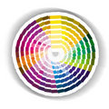 Circular colour swatch Royalty Free Stock Photos