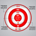 Circular diagram with icons for business concepts presentations brochure template Royalty Free Stock Photography