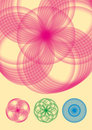 Circular flower vector Stock Photography