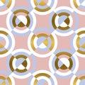Circular geometric shapes seamless pattern