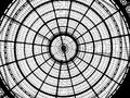 Circular glass ceiling at vittorio emanuele galleries in milan Royalty Free Stock Photo