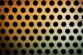 Circular metal grill texture