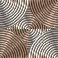 Circular Metal Pattern Royalty Free Stock Photo
