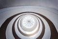 Circular modern skylight inside a architecture building Royalty Free Stock Images