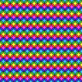 Circular multicolored stripes seamless party fun colors pattern Stock Photo