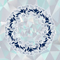 Circular ornament in the greek style abstract background Royalty Free Stock Images