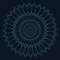 Circular ornament - mandala - heart pattern - blue and green