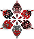 Circular ornament from six elements. Stock Image