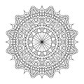 Circular pattern in form of mandala for Henna, Mehndi, tattoo, decoration. Decorative ornament in ethnic oriental style