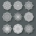 Circular pattern set vector illustration eps Stock Images
