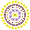 Circular pattern for a variety of purposes isol flowers isolated Royalty Free Stock Photography