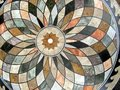 Circular patterned tabletop Royalty Free Stock Photography