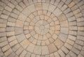 Circular Paving stone pattern Royalty Free Stock Photo