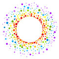 Circular rainbow spots round frame border Royalty Free Stock Photo