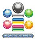 Circular and rectangular buttons Stock Image