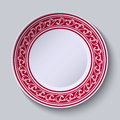 The Circular Red Pattern With ...
