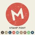 Circular Retro Stamp Template