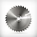 Circular saw blade computer illustration on white background Stock Images