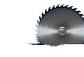 Circular saw blade cut background Royalty Free Stock Image