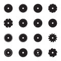 Circular saw blade icons Royalty Free Stock Photo