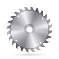 Circular saw blade metal of on white background Stock Photography
