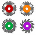 Circular saw blades Royalty Free Stock Images