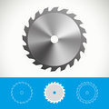 Circular saw icon design for web and print Royalty Free Stock Images