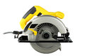 Circular saw new powerful on white background Stock Photo