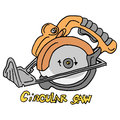 Circular saw power tool Royalty Free Stock Photo