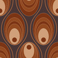 Circular seamless pattern a ringed in shades of brown Royalty Free Stock Images