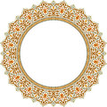 Circular shape with oriental ornament Royalty Free Stock Photos