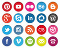 Stock Image Circular Social Media icons