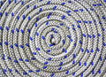 Circular spirally of nautical rope Royalty Free Stock Photo