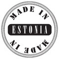 Circular stamp is made in Estonia