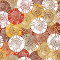 Circular, tribal pattern with motifs of African tribes Surma and Mursi Royalty Free Stock Photo