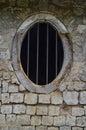 Circular window at mantri manai jaffna palace ruins lime stone Stock Photography