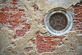 Circular window in an old wall venice italy Stock Images
