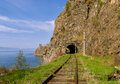 Circum baikal road in the south of lake baikal in june Stock Photo
