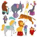 Circus animals vector illustration.