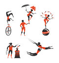 Circus artists authors illustration in vector Stock Photo