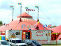 Circus big top mablethorpe lincolnshire the and ticket office at the seaside town of england uk Royalty Free Stock Images