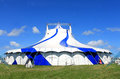 Circus big top tent in summer blue sky background Stock Photography