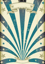 Circus blue beams vintage poster a for your advertising Stock Photo