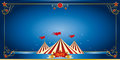 Circus blue invitation Stock Photos
