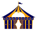 Circus blue tent isolated on white Royalty Free Stock Images