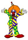 Circus clown in cartoon style for design Royalty Free Stock Photo
