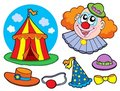 Circus clown collection Royalty Free Stock Photos
