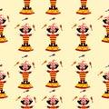 Circus clown illustration pattern
