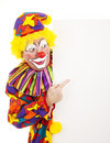Circus Clown Pointing Royalty Free Stock Photo